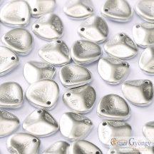 Matte Metallic Silver - 1 db - Rose Petals 8x7 mm