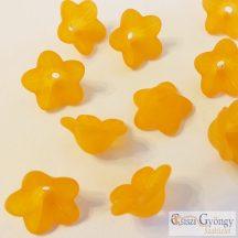 Narancs akril virág - 1 db - méret: 7x12 mm