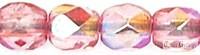 Coated Milky Pink AB - 50 db - csiszolt gyöngy 3 mm (K1704)