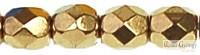 Gold Bronze - 50 db - csiszolt gyöngy 3 mm (90215JT)