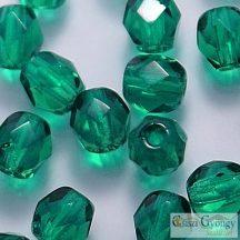 Green Emerald - 40 db - 4 mm csiszolt üveggyöngy (50140)