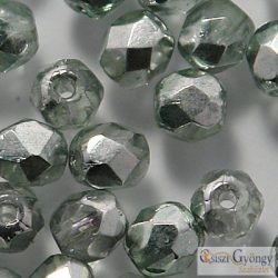 Coated Silver Olivine - 40 db - csiszolt gyöngy 4 mm (K2502CR)