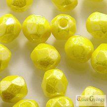 Luster Opaque Yellow - 40 db - csiszolt gyöngy (83120)