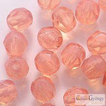 Milky Pink - 40 db - csiszolt gyöngy 4 mm (71010)