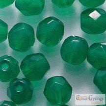 Alabaster Malachite Green - 40 db - 4 mm csiszolt gyöngy (52060)