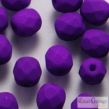 Neon Purple - 40 db - 4 mm csiszolt gyöngy (25145AL)