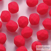 Neon Red - 40 db - 4 mm csiszolt gyöngy (25144AL)