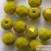 Opaque Olivine - 40 db - 4 mm csiszolt gyöngy (53400)