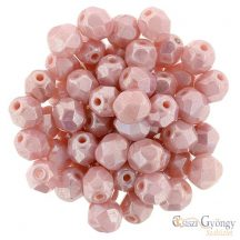 Luster Carnation Pink - 20 db - 6 mm csiszolt gyöngy (L73030)