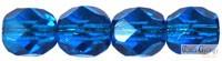 Dark Capri Blue - 20 db - csiszolt gyöngy 6 mm (60310)