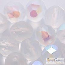 Opaque Turquoise - 20 db - 8 mm csiszolt üveggyöngy (63130)