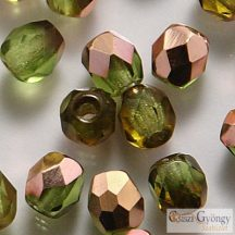 Copper Olivine - 40 db - 4 mm csiszolt gyöngy (C50230)