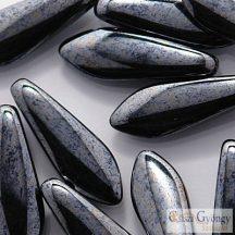 Hematite - 1 db - szirom gyöngy, mérete: 5x16 mm (14400)