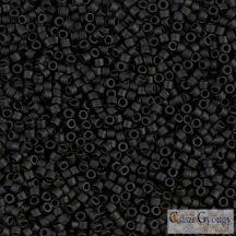 0310 - Matte Black - 5 g - 11/0 Miyuki Delica gyöngy