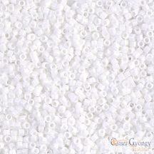 0200 - Opaque White - 5 g - 11/0 Miyuki Delica gyöngy