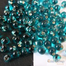 Silver Lined Teal - 5 g - Miyuki Drop 3.4 mm