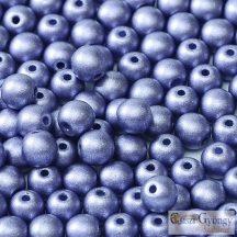 Matte Met. Sapphire - 50 db - 3 mm golyó gyöngy (29425)