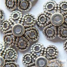 Inda gyöngykupak - 10 db - antik ezüst színű, mérete: 12mm