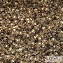 Frosted Gold Lined Crystal - 5 g - 15/0 Toho japán kásagyöngy (989F)