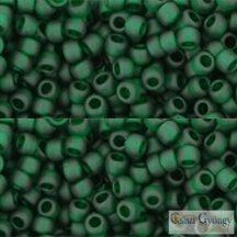 Transparent Frosted Green Emerald - 10 g - 8/0 Toho japán kásagyöngy (939F)