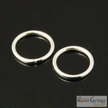 Szerelőkarika - 15 g - ezüst színű, átmérő: 10 mm, vastagság: 1mm, (nikkel mentes)