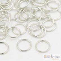 Szerelőkarika - 15 g - ezüst színű, átmérő 4 mm, egysoros (nikkel mentes)