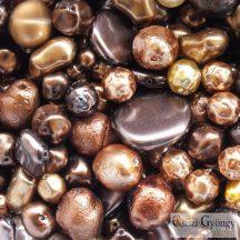 Gold Brown Pearl - 20 g - cseh, üveg tekla gyöngymix