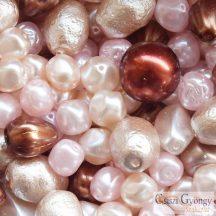 Honey Pearl - 20 g - cseh, üveg, tekla gyöngy mix