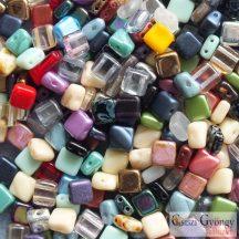 Tile és Silky gyöngymix - 90 g (kb. 370 db gyöngyszem) - Silky és Tile gyöngyök vegyesen