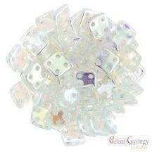 Crystal AB - 20 db - Quadra Tile gyöngy, mérete: 6 mm (X00030)