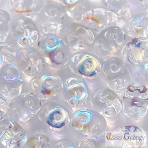 Transparent Crystal AB - 10 g - SuperDuo 2.5x5 mm (X00030)