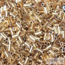Gold Lined Rainbow Crystal - 10 g - Toho szalmagyöngy 3 mm (994)