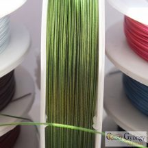 Zöld színű - 1 méter - Tigrisbajusz sodrony, átmérő: 0.45 mm