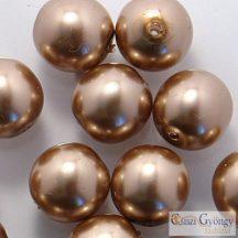 Brass - 50 db - cseh, üveg tekla gyöngy 3 mm (70417)