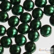 Emerald - 20 db - 6 mm cseh, üveg tekla gyöngy (70959)