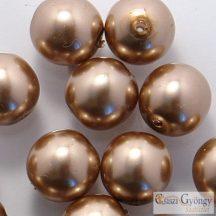 Brass - 10 db - cseh üveg tekla gyöngy 8 mm (70417)