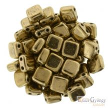 Bronze - 20 db - TILE gyöngy, mérete: 6x6 mm (B23980)