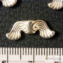 Angyalszárny - 10 db - antik ezüst színű angyalszárny, szélessége: 18 mm, furat: 1.5 mm